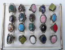 15 Peruvian Alpaca Rings. Semi Precious Stones