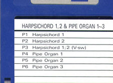 Harpsichord & Pipe Organ SOUND DISK formatted for ROLAND W-30