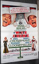 WHITE CHRISTMAS original one sheet movie poster BING CROSBY/ROSEMARY CLOONEY