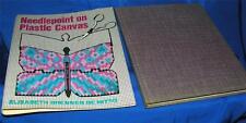 vintage artigianato libro,RICAMO CON AGO su tela 1978 HC W DJ,ELISABETH DE NITO