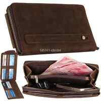 Hot Men's Vintage Genuine Leather Credit Card Holder Wallet Handbag Clutch Purse