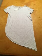 $158 Eileen Fisher Bateau neck Tunic size petite medium white  linen P202