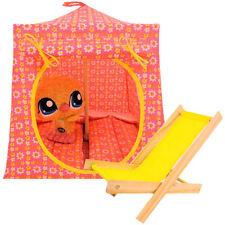 Pink, daisy print fabric Toy Play Pop Up Tent, 2 Sleeping Bags, handmade