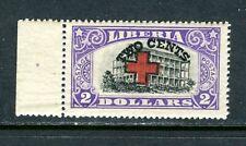 LIBERIA B14, 1918 2c ON $2.00 COLLEGE,  MNH (LIB054)