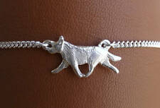 Sterling Silver Australian Cattle Dog Moving Study Anklet