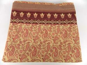 Springs Burgundy Maroon Tan Floral Paisley Percale Double Flat Bedding Sheet