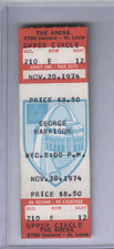 Nov. 20 1970  George Harrison ORIGINAL UNUSED FULL TICKET The Arena St. Louis