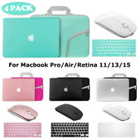 Hard Case+Keyboard Skin+Wireless Mice+Sleeve Bag Macbook Pro/Air/Retina 11/13/15
