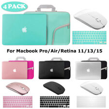 Hard Case+Keyboard Skin+Wireless Mice+Sleeve Bag Macbook Pro/Air/Retina 11/13/15