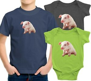 Toddler Kids Tee Youth Tshirt Baby Bodysuit Gift Print Cute Baby Pig Funny Piggy
