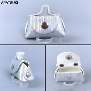 "Silver Fashion Doll Accessories Handbag For 11.5"" 1/6 Doll Leather Bag Purse Toy"