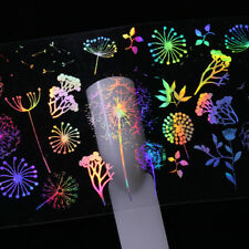 810pcs Holographic Nail Art Foil Rose Butterfly Dandelion Fire Transfer Stickers