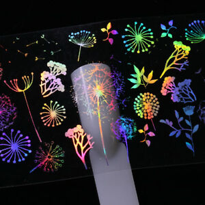 10 Sheets iridescents Nail Art Foil Rose Butterfly Fire Transfer Stickers