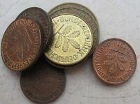 lotto di 8 Monete Tedesche  da 1, 2, 5 e 10 PFENNIG dal 1950 in poi  - n 1051