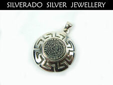 Sterling Silver 925 Ancient Greek Minoan Phaistos Disc Pendant 26 mm