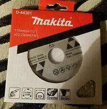 "MAKITA D-44301 4 1/2"" TURBO RIM GRANITE MARBLE DIAMOND BLADE"
