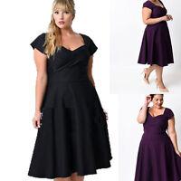 Plus SIZE XL-5XL Hot Women Summer Short Sleeve Mini Party Evening Casual Dress