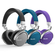 Bluedio Vinyl Bluetooth Kopfhörer Stereo Headphones mit Mikrofon On-Ear
