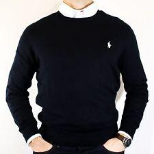 NWT Polo Ralph Lauren Black Cashmere & Cotton Sweater Elegant Luxurious Size M