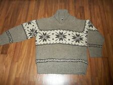 Vintage Kauri Kraft Hand Knitted Wool Snowflake Sweater Size 44 New Zealand