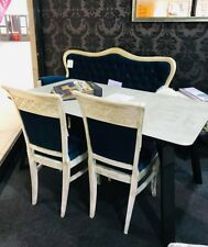 Italian exclusive style Dining table / 4 handmade chairs and 3 seater sofa