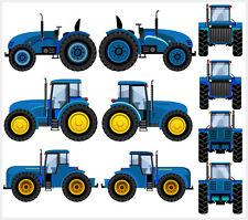 Tractor-Azul-Paquete de 10 Pared Arte Vinilo Pegatinas-John Deere Digger calcomanías Chicos