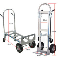 Aluminum Folding Hand Truck 2 In 1 Convertible 770LBS Capacity Industrial Cart