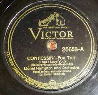 Lionel Hampton Orch 78 VICTOR 25658 Confessin' / Drum Stomp EE- / E- D8