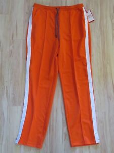 New Women's Hunter For Target Orange Pullaway Snap Leg Track Pants Size Medium