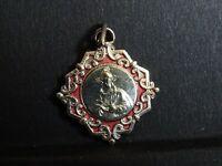 medaille religieuse Enamel  sacré cœur de Jésus 2.2 x 2 cm  MR 0513