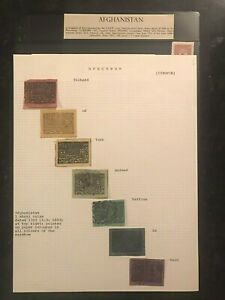 STAMPS AFGHANISTAN 1893 MINT & USED 2pages   #0836