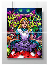 TRIPPY PSYCHEDELIC POSTER ALICE THIRD EYE WALL ART PRINT A3 A4 SIZE