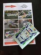 DECALS 1/24 TOYOTA COROLLA STOHL RALLYE MONTE CARLO 2002 WRC RALLY HASEGAWA