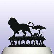 Personalised Acrylic Lion Safari Animal Birthday Cake Topper Decoration