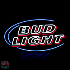 "Bud Light Budweiser Red Neon Sign 24""x20"" From Usa"