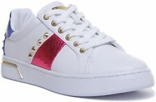 Guess Fl5Latele12 Ramero Active Lady Lace Up Trainer In White Size UK 3 - 8