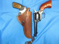 """Leather Holster for Ruger 357 SP101 4"""" barrel & 22 sgl action 4 3/4"""" barrel"""