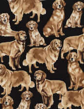 Golden Retriever Patchworkstoffe Stoff Hunde Patchwork Baumwolle Tiermotive Dogs