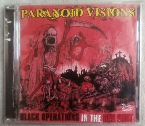 Paranoid Visions Black Operations In The Red Mist 2CD Irish Punk Used VGC