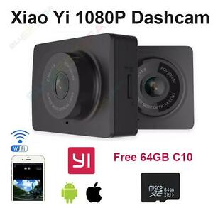 "Black Color Xiaomi Yi 2.7""LCD HD 1080P WIFI Car Dash Cam Video DVR+64GB Ford GM~"