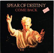 SPEAR OF DESTINY come back U.K.EPIC 45rpm PIC/SLVE_1985 MINT