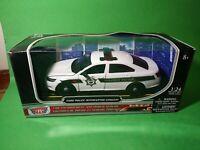 Ford Police Interceptor Concept Car  Black/White 1/24 Diecast Model Car