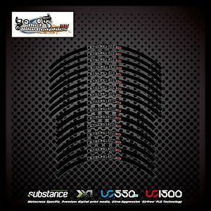 Beta 300RR 18 21 Inch Rim Tapes Black Decal Sticker MX (414)