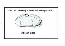 Flat Cap/ Baker Boy/ Newsboy/Dai Cap Sewing Pattern
