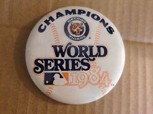 "1984 DETROIT TIGERS WORLD SERIES CHAMPIONS LARGE 3 1/2"" PIN"