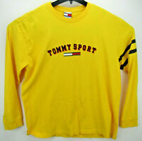 Vintage Tommy Jeans Men's Size XL Long Sleeve T Shirt Tommy Sport Spell Out