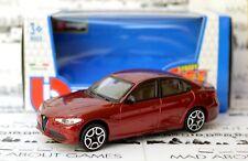 Alfa Romeo Giulia 1:43 Model Miniature Car Diecast Models Die Cast Metal Toy Red