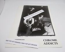 Chrome Addicts Rockabilly Band Promotional 8x10 Photograph Black & White
