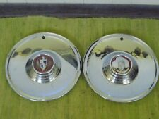 "56 57 Lincoln HUB CAPS 15"" Set of 2 Wheel Covers Capri Hubcaps 1956 1957"