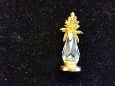 Spoontiques Gold Leaf Top Crystal Pineapple Miniature
